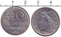 Изображение Барахолка Бразилия 10 сентаво 1975 Медно-никель XF