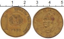Изображение Дешевые монеты Доминиканская республика 1 песо 1991 Медь XF