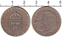 Изображение Барахолка Швеция 1 крона 1983 Медно-никель XF+