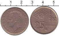 Изображение Дешевые монеты Испания 25 песет 1982 Медно-никель XF-