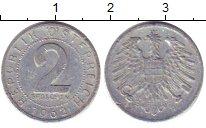 Изображение Дешевые монеты Австрия 2 гроша 1962 Медно-никель XF-