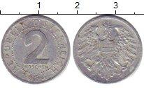 Изображение Дешевые монеты Австрия 2 гроша 1954 Медно-никель XF-