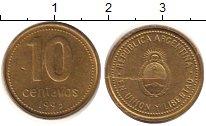 Изображение Барахолка Аргентина 10 сентаво 1993 Латунь XF /