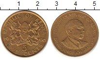 Изображение Дешевые монеты Кения 5 центов 1990 Латунь XF