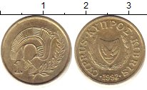 Изображение Дешевые монеты Кипр 1 цент 1992 Латунь XF