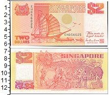 Изображение Банкноты Сингапур 2 доллара 1990  UNC