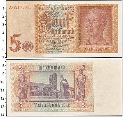 Изображение Банкноты Третий Рейх 5 марок 0  XF