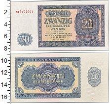 Изображение Банкноты ГДР 20 марок 1955  UNC-