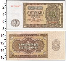 Изображение Банкноты Германия 20 марок 1948  UNC- Берлин.