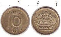 Изображение Монеты Швеция 10 эре 1952 Серебро XF