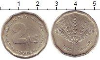 Изображение Монеты Уругвай 2 песо 1981 Медно-никель XF