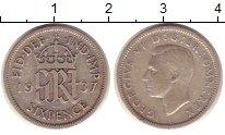 Изображение Монеты Великобритания 6 пенсов 1937 Серебро VF