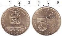 Изображение Монеты Чехословакия 10 крон 1967 Серебро UNC-