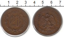 Изображение Монеты Мексика 20 сентаво 1935 Медь XF