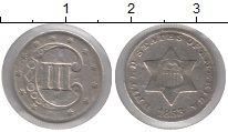 Изображение Монеты США 3 цента 1853 Серебро VF
