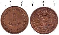 Изображение Монеты Мозамбик 1 эскудо 1968 Медь XF