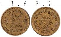 Изображение Монеты Марокко 20 франков 1951 Медь XF