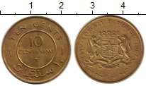 Изображение Монеты Сомали 10 сентим 1967 Медь XF