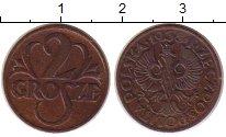 Изображение Монеты Польша 2 гроша 1938 Медь XF