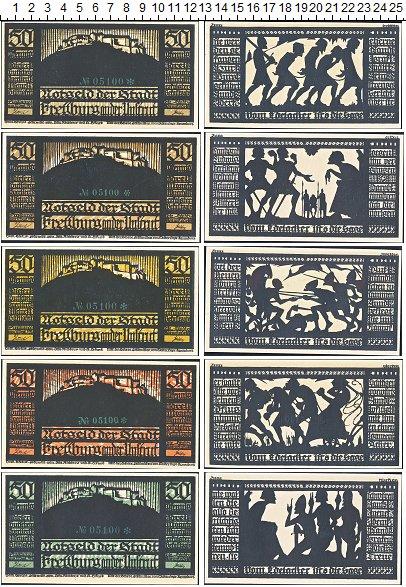 Изображение Банкноты Германия : Нотгельды 50 пфеннигов 1921  XF 5 нотгельдов по 50 п