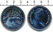 Изображение Монеты Канада 1 доллар 1980 Серебро UNC