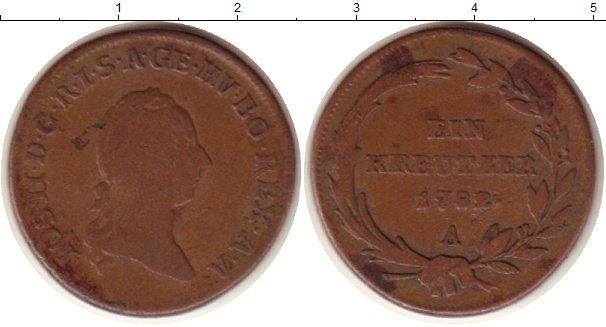 Картинка Монеты Австрия 1 крейцер Медь 1792