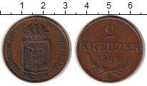 Изображение Монеты Австрия 2 крейцера 1848 Медь XF А