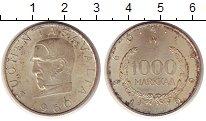 Изображение Монеты Финляндия 1000 марок 1960 Серебро UNC- 100 - летие  денежно