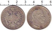 Изображение Монеты Австрия 1 флорин 1860 Серебро XF Франц  Иосиф I.