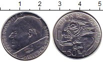 Изображение Монеты Ватикан 50 лир 1985 Сталь UNC-