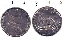 Изображение Монеты Ватикан 50 лир 1988 Сталь UNC-