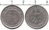 Изображение Монеты Веймарская республика 50 пфеннигов 1928 Медно-никель XF D