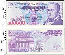 Изображение Банкноты Польша 100000 злотых 1993  UNC Станислав Монтушко