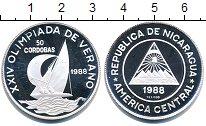 Изображение Монеты Никарагуа 50 кордоба 1988 Серебро Proof Олимпийские игры в С