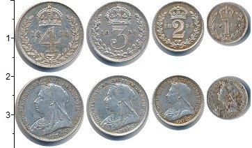 Изображение Наборы монет Великобритания Маунди сэт 1894 (Благотворительный набор) 1894 Серебро Prooflike В наборе 4 монет ном