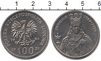Изображение Мелочь Польша 100 злотых 1988 Медно-никель UNC- Королева  Ядвига.