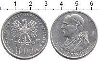 Изображение Монеты Польша 1000 злотых 1982 Серебро UNC-