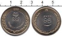 Изображение Монеты Португалия 200 эскудо 1998 Биметалл UNC ЭКСПО 98.