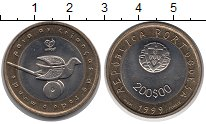 Изображение Монеты Португалия 200 эскудо 1999 Биметалл UNC