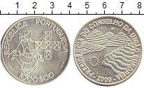 Монета Португалия 1000 эскудо Серебро 2000 UNC
