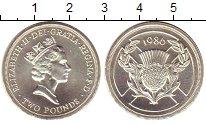 Изображение Монеты Великобритания 2 фунта 1986 Серебро Proof