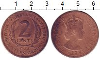 Изображение Монеты Карибы 2 цента 1955 Бронза XF