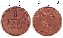 Изображение Монеты 1894 – 1917 Николай II 1 пенни 1909 Медь XF