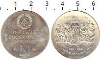 Изображение Монеты ГДР 10 марок 1983 Серебро UNC-