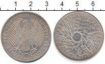 Изображение Монеты ФРГ 10 марок 1989 Серебро UNC- 40 лет Республики (Ф