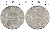 Изображение Монеты Австрия 100 шиллингов 1977 Серебро XF 1200 - летие  монаст