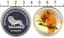 Изображение Монеты Конго 10 франков 2004 Серебро Proof Цветная  геометричес