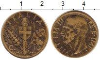 Изображение Монеты Италия 10 сентесимо 1940 Медь VF Виктор  Эммануил III