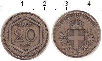 Изображение Монеты Италия 20 сентесимо 1918 Медно-никель VF