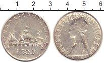 Изображение Монеты Италия 500 лир 1964 Серебро XF
